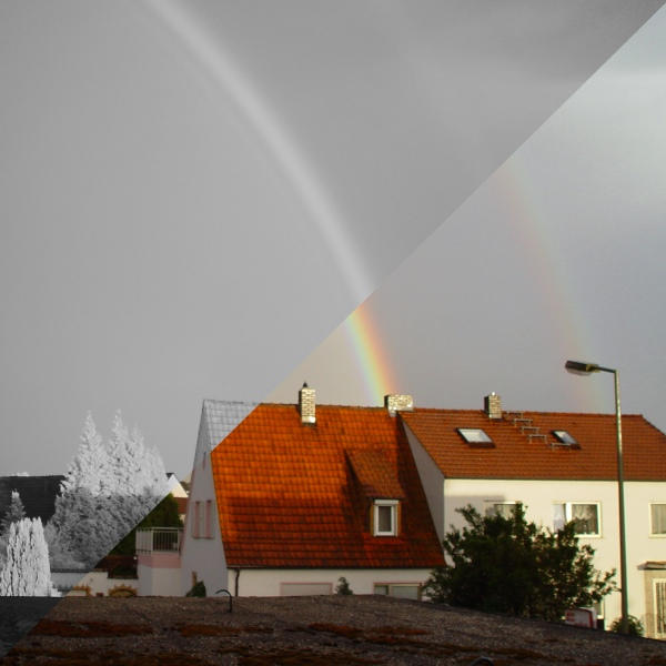 double rainbow in color and infrared author zeige zeiger stefan