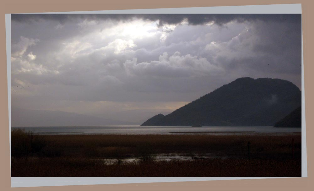 skadar lake taken from a train in the move auth tadic maria