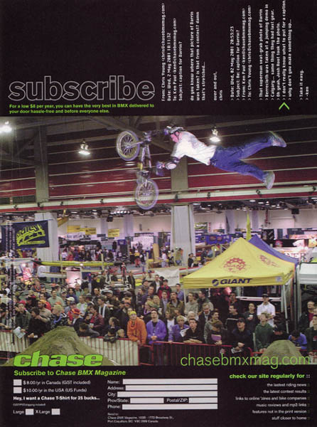 chase bmx magazine subscribe page author root jos josh