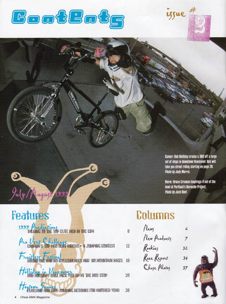 chase bmx magazine table of contents author root josh