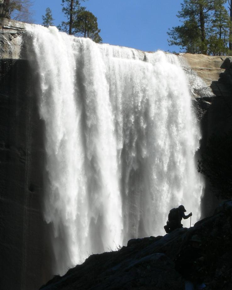 old man hiking yosemite waterfall author dreizler bob