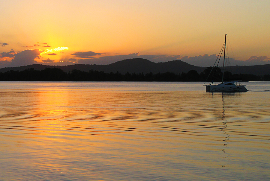 clarence river at sunset author neill linden