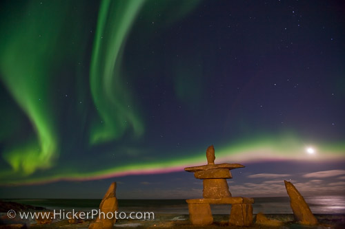 northern lights dancing above the native symbol in hicker rolf