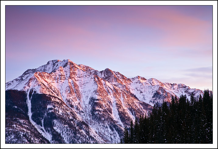 twilight peak earns its name with a fiery sunset o edge bret