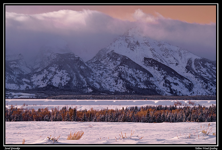 cloudy snowy tetons blue and gold filter author g gricoskie jared