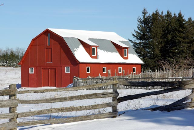 red barn with snow author brooks david