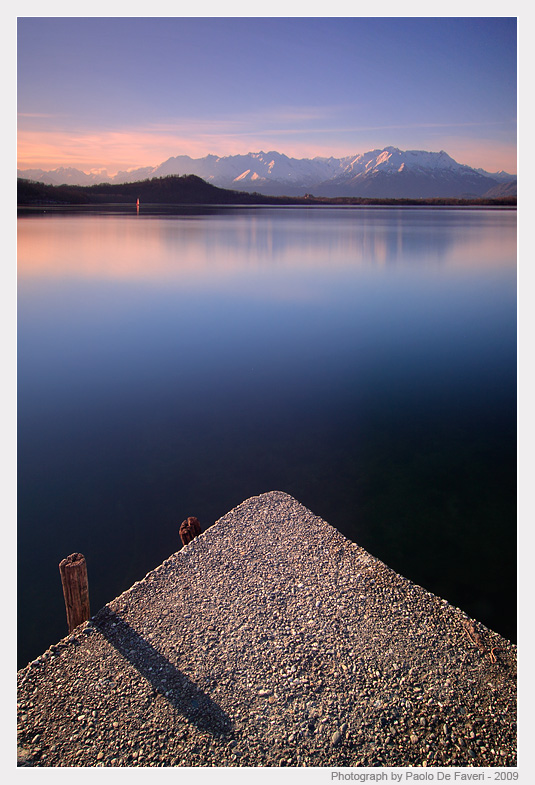 the viverone lake at sunset piedmont italy auth de faveri paolo