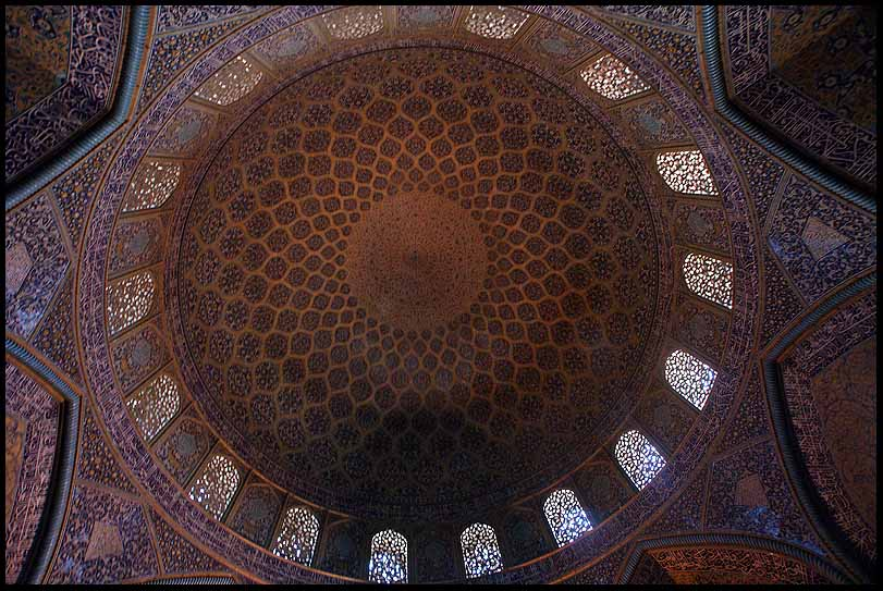 interior dome of the sheikh lotfollah mosque isfah downs jim