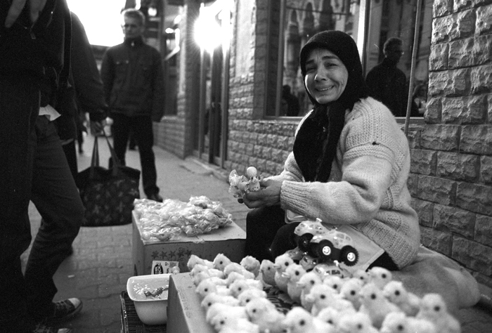 woman selling toys in bucharest author ursu mihai mihail