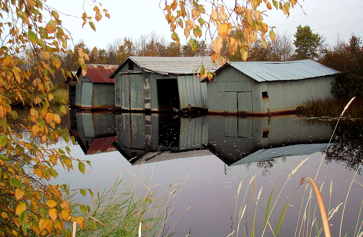 old boat houses reflected author pluskwik paul