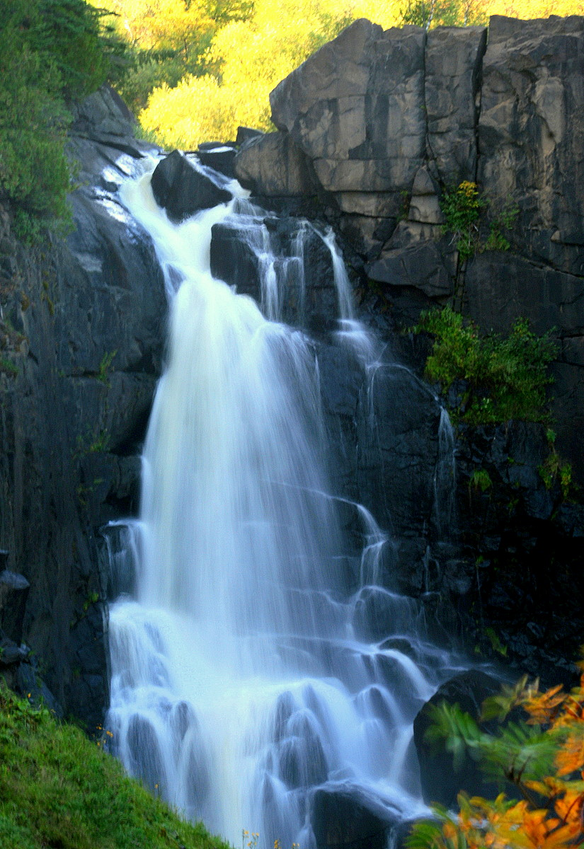 high falls at grand portage state park in mn aut pluskwik paul