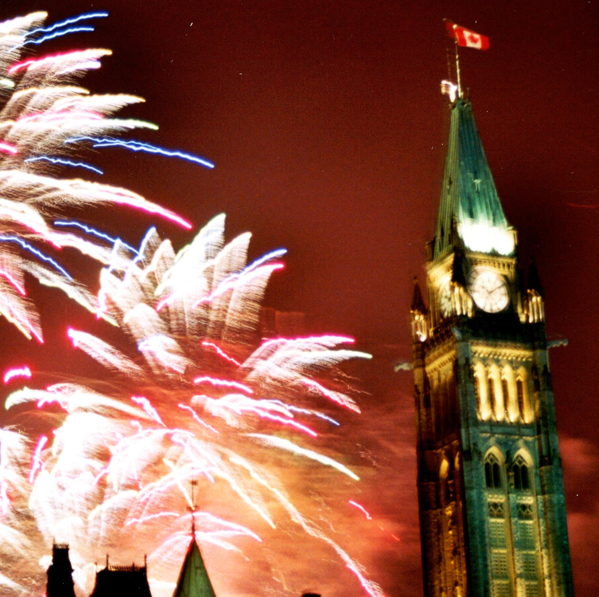 fireworks at canada day author laverdiere marc an andre