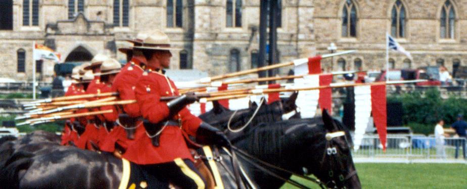 the rcmp musical ride performing charge for ca laverdiere marc andre