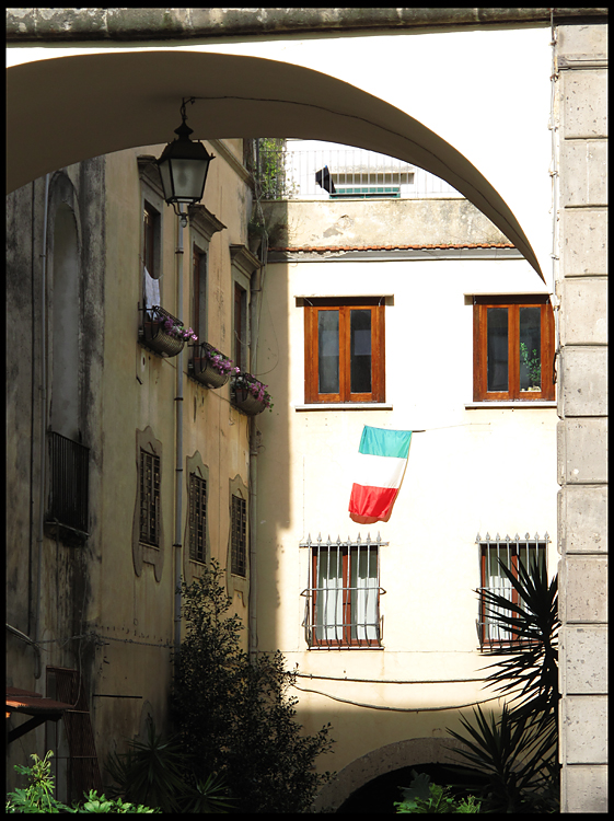 archway with italian flag author patterson steve