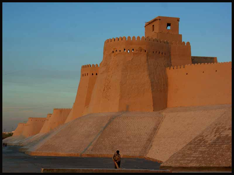 walls of khiva s old city author downs jim