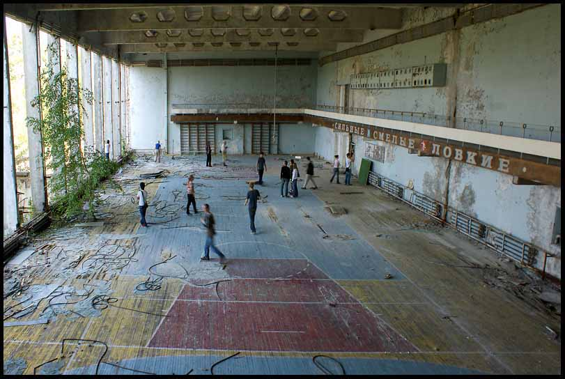 abandoned gym at chernobyl author downs jim