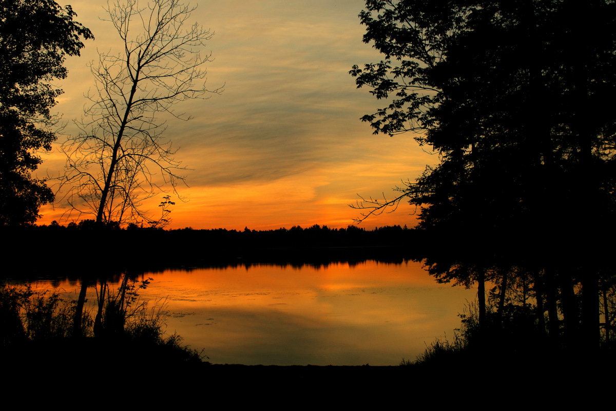 four mile lake summer sunset author pluskwik paul