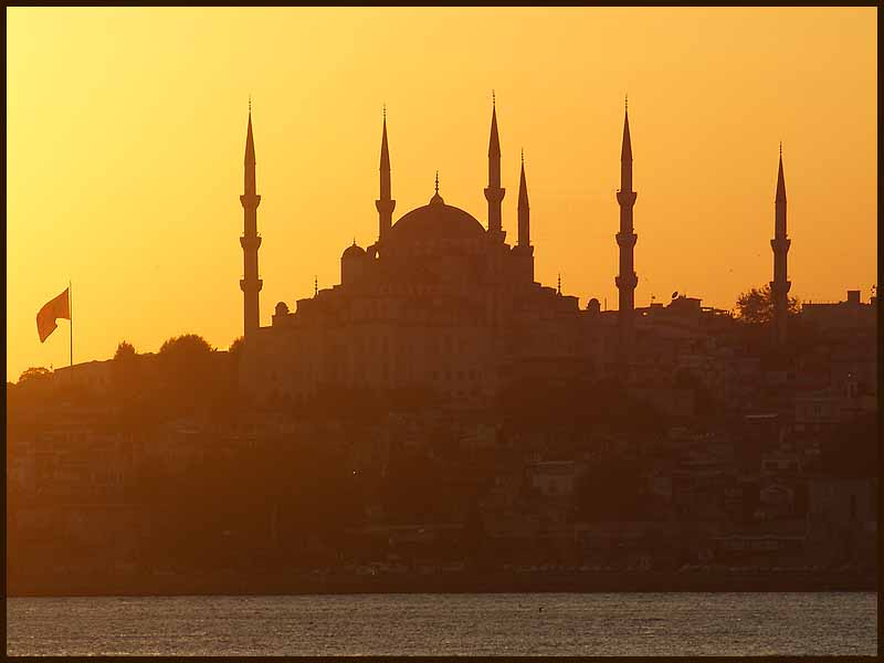 golden glow on the blue mosque author downs jim