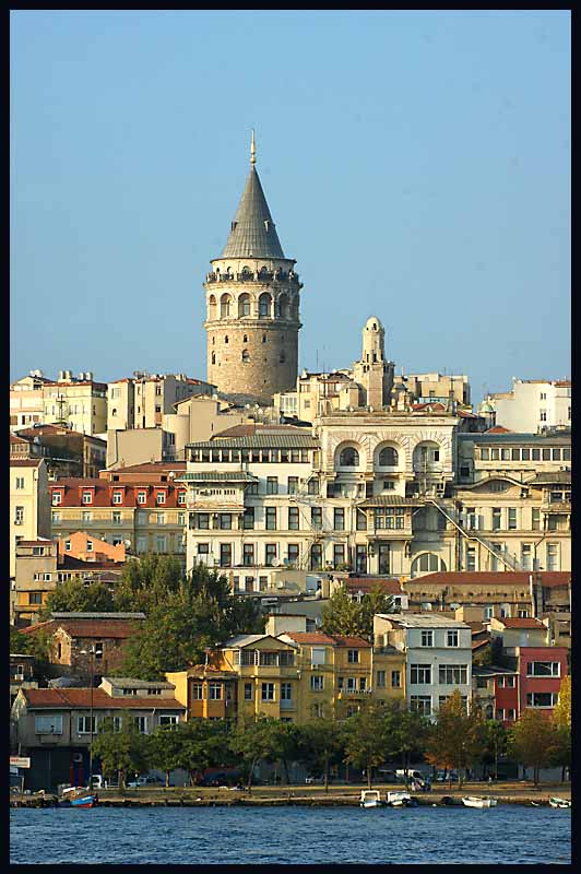 galata tower viewed from the bosphorus straits au downs jim