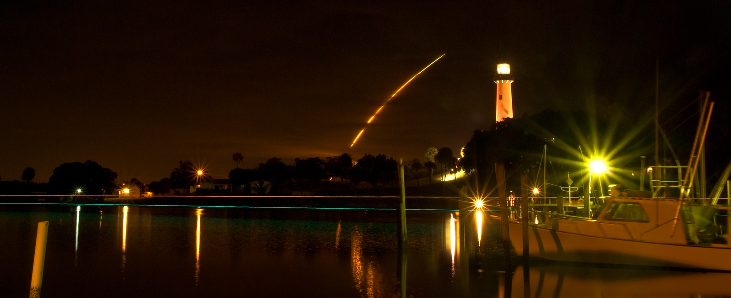 sts space shuttle discovery and jupiter fl lightho watson richard