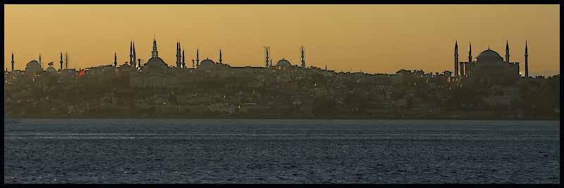 minarets on istanbul s golden horn at twilight au downs jim