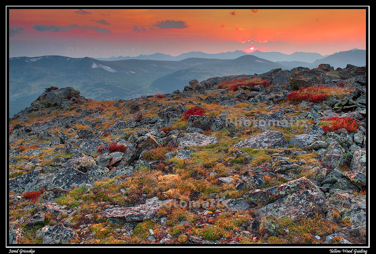 trail ridge fall sunset hdr author gricoskie ja jared