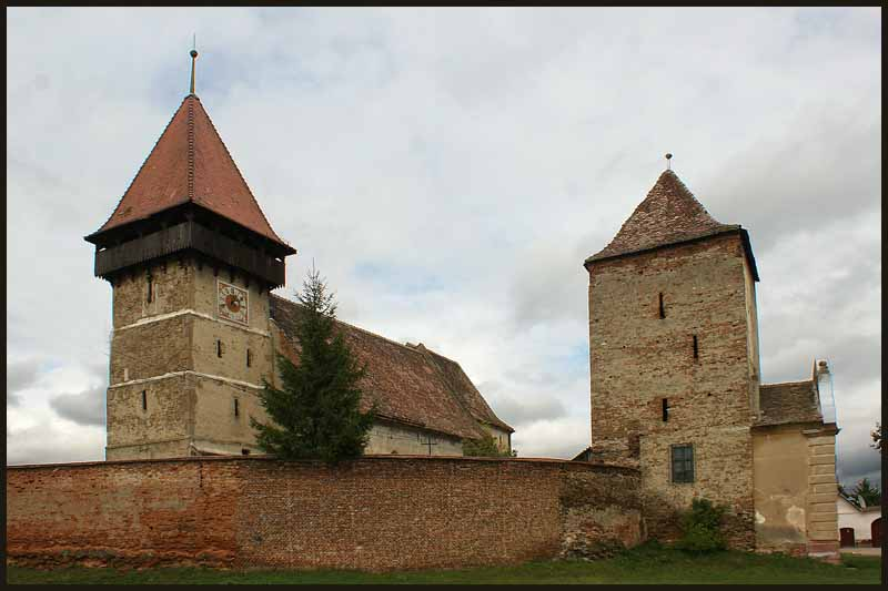 the saxon fortified church at valchid romania tran downs jim