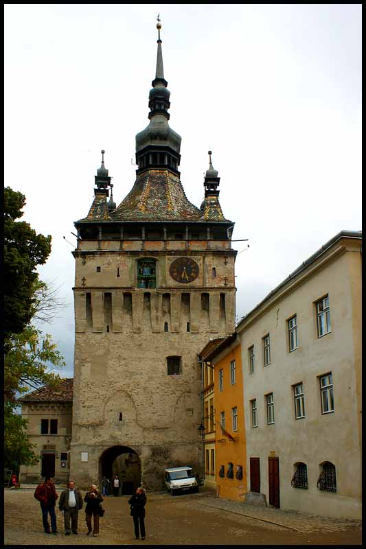 medieval clock tower at sighisoara romania author downs jim