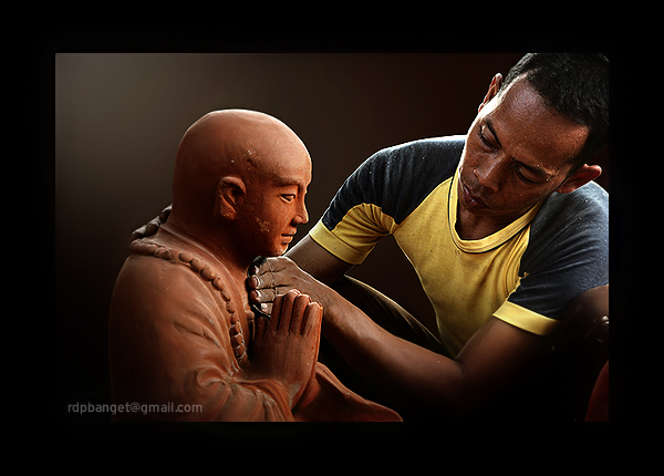 the making of budha statue membuat patung author prakarsa rarindra