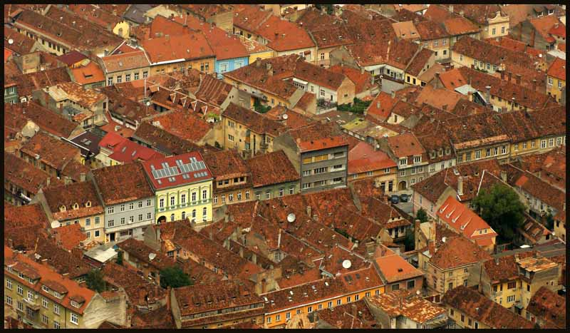 brasov romania tile rooftops author downs jim
