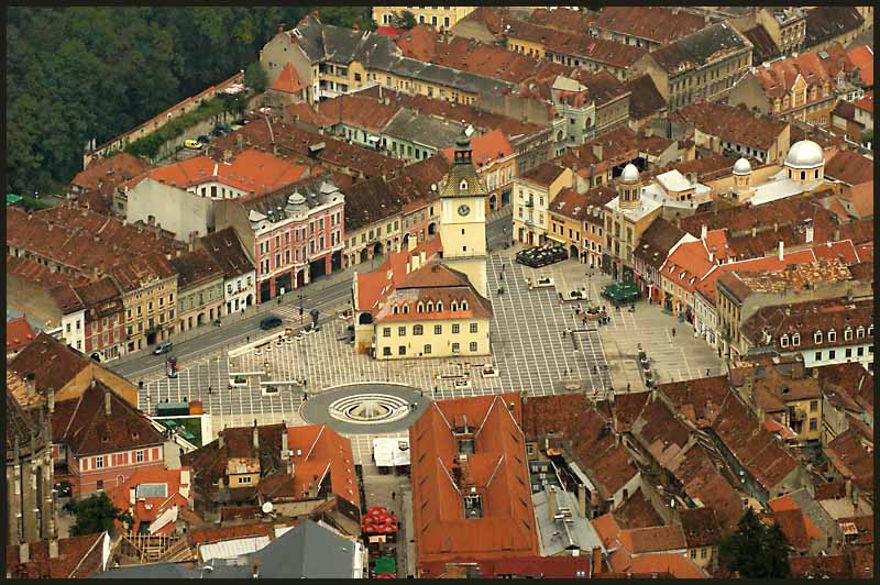 town center of medieval brasov romania author dow downs jim