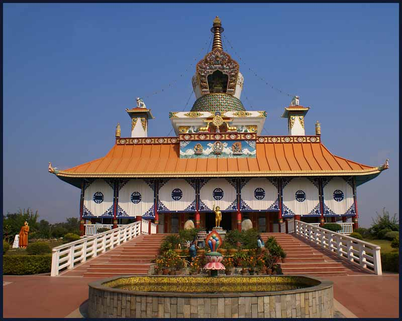 buddhist temple at lumbini birthplace of the buddh downs jim