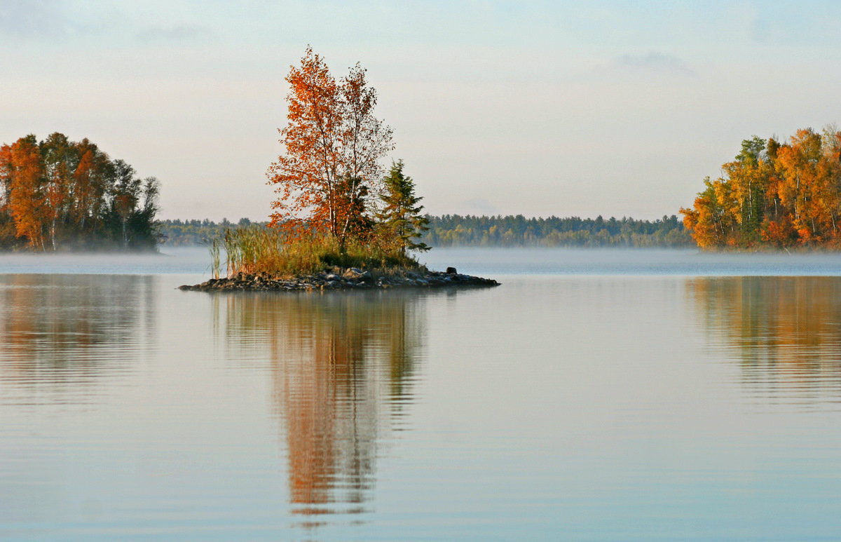 early fall morning lake view author pluskwik paul