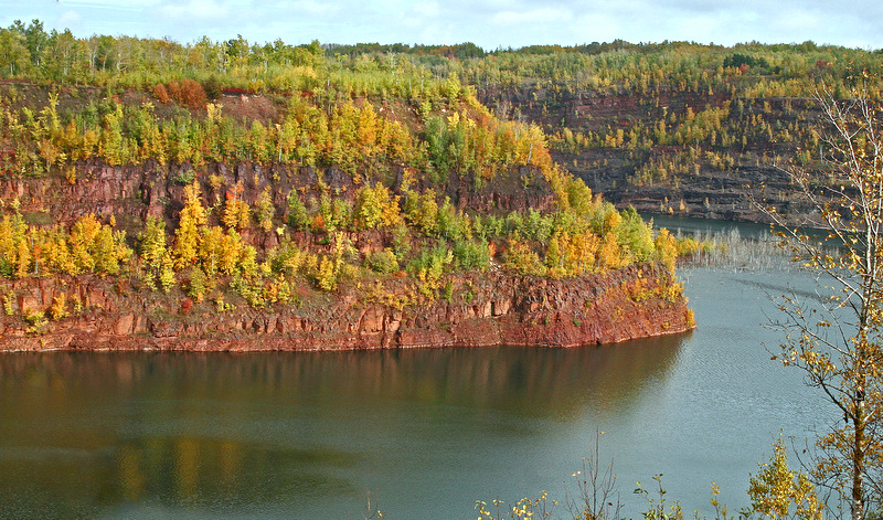 golden fall colors along the old mine pit author pluskwik paul